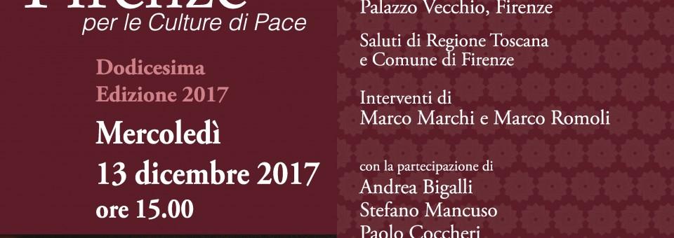 Premiazione Dodicesima Edizione Premio Letterario Firenze per le Culture di Pace dedicato al Dalai Lama